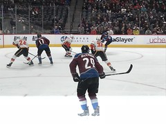 Favorite player, MacKinnon (f l a m i n g o) Tags: nhl hockey avalanche mackinnon player ice jersey game pepsicenter denver colorado