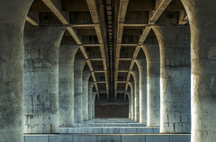 under the bridge over the water (Keoni Cabral) Tags: bridge concrete infrastructure missionbay overpass sandiego under arch over