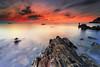 Fisherman dreams (Ludovic Lagadec) Tags: erquy bretagne breizh brittany beach bretagnenord nd64 gndreverse nisi rocks filtrend cotesdarmor coucherdesoleil seascape sea sky sunset fisherman longexposure ludoviclagadec landscape