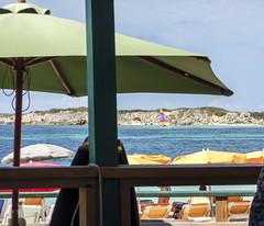 2017-04-21_14-55-39 Orient Beach (canavart) Tags: sxm fwi caribbean stmartin stmaarten sintmaarten island cayeverte greencaye sailboat orientbeach beach beachumbrellas chezleandra