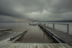 Blanketed (zebedee1971) Tags: lake taupo fishing fish boat trout new zealand north island clam cloud sunrise cloudy landscape water shore volcano crater pier dock wharf wooden