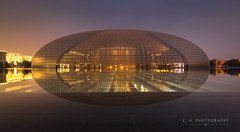 Egg Front - Beijing, China (www.caseyhphoto.com) Tags: china d800 asia nikkor nikon travel traveling traveler traveller travels traveled adventure adventurer adventuring explore explorer exploring discover discovering wanderlust wandering tourism tourist holiday vacation arquitectura architectuur architectural architecture design structure structural beijing reflection reflejos national grand theatre theater operahouse stage performance music arts performingarts sky cielo facade paulandreu