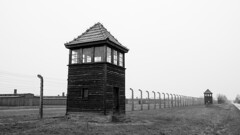 A remembrance of one of the darkest histories in human mankind (HansPermana) Tags: auschwitz poland polen oświęcim polska gloomy winter december 2017 eerie birkenau guardposts holocaust genocide nazi monochrome blackandwhite historic wwii worldwarii weltkrieg małopolska lesserpoland