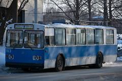 Soviet Russian high-floor trolley bus (Jess Aerons) Tags: passenger vehicle trolley trolleybus transportation bus street transport urban russia old ziu electrical city outdoors electric catenary russian route conveyances automobile machine travel town public car nobody ecological ancient trolza motor bright ussr summer power editorial famous aged soviet classic symbol auto commuting day krasnoyarsk transit ziu9 electricity used winter транспорт троллейбус