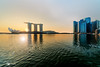 Hazy Hue Rise (chaoticbusher) Tags: 1x 2018 d800 dbs dslr fx fullframe nikkor nikon scb standardchartered art artsciencemuseum artist businessclass camera capture cbd centralbusinessdistrict chaoticbusher cityscape cloudless february glow hue jeremyhui landmark landscape lvl33 marinabaysands marinaboulevard memory moments morning officebuilding photograph photography singaporeriver skyline snap sunburst sunflare sunrise visual singapore sg