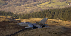Golden End (Andy Tee) Tags: mach loop tornado gr4 bwlch sunset golden rays low level flying raf royal air force countryside hills