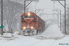 CSS 2009 @ Hammond, IN (Michael Polk) Tags: chicago south shore bend railroad freight train hammond indiana calumet hill snow storm snowmageddon 2018 gp382 emd 2009 2007