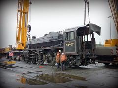 UK steam (onewayticket) Tags: steam trains transport loco locomotive stanier black5 stanierblack5 railway