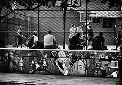 The Game (M. Nasr88) Tags: newyork nyc america usa unitedstates people basketball sport game court blackandwhite monochrome bw graffiti drawing art artistic street streetphotography candid raw autofocus nikon nikond5300 nikondigital manhattan