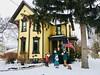 Carolers, Saline, Michigan (Dennis Sparks) Tags: snow color michigan saline carolers iphone