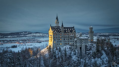 It's a fairytale (Bram de Jong) Tags: bayern bavaria neuschwanstein castle building snow landscape bluehour duitsland germany nikond500 aurora2018 photoshop tripadvisor travel outdoor