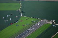 Formation over the runway (GJC1) Tags: bullchipmeet2017 abbeville dehavilland chipmunk airtoair a2a geoffcollins balbo gjc1