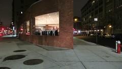 Only the Lonely (Robert Saucier) Tags: newyork newyorkcity manhattan building architecture trottoir sidewalk pavement lumière img7293 vêtements clothes clothing bornefontaine firehydrant gris grey