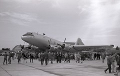 TG518. Royal Air Force Handley Page Hastings T.5 (Ayronautica) Tags: handleypagehastingst5 tg518 1961 september egql leuchars royalairforce raf mil airshow scanned aviation ayronautica