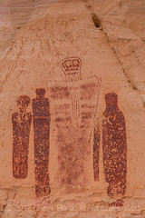 Detail of Great Gallery Panel of Barrier Canyon Style Pictographs in Horseshoe Canyon (Lee Rentz) Tags: barriercanyon barriercanyonstyle barriercreek canyonlandsnationalpark greatgallery holyghost horseshoecanyon horseshoecanyonunit navajosandstone thegreatgallery waynecounty america americanwest ancient archaic archeological archeology arid art autumn canyon cliff decorated face figures holyghosts huntergatherer lines meaning nationalpark northamerica old painting panel pictograph pictographs pigment red rockart slickrock southwest southwestern spirit spiritual tall torso usa utah west western