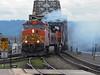Thats One Smoking Train (PDX Bailey) Tags: locomotive rail railraod train bridge smoke bnsf oregon washington river water