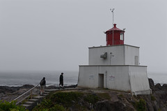 The Western Edge (Kurayba) Tags: ucluelet bc western edge journey ending lighthouse men walking rocks fog pacific ocean vancouver island british columbia pentax k5 da 1645 f4 smcpda1645mmf40edal wild trail
