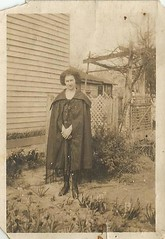 The black fringed cape (912greens) Tags: folksidontknow women capes fashion hairstyles backyards 1930s