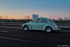 Queen of the Highway (stef demeester (sometimes off)) Tags: stefdemeester beetle vw volkswagen highway x70 fujifilmx70 sunset