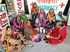 Ladies Meeting (Mary Faith.) Tags: india women meeting sari colour varanasi indian street