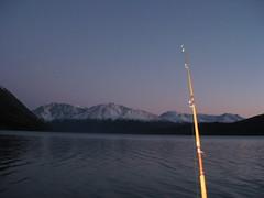 '14 night shot (Alaska Weber Kettle) Tags: kenai lake night shot fishing