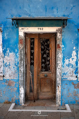 Colours of Burano (fesign) Tags: abandoned architecturalfeature architecture blue buildingentrance buildingexterior burano city colourimage day door entrance europe facade frontview italy nopeople number old outdoors photography veneto veniceitaly vertical wallbuildingfeature weathered decay