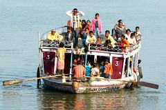 Visitor's boat, Varanasi Ghats (Sekitar) Tags: uttar uttarpradesh india inde varanasi benares ganga ganges river riverside pilgrim boat