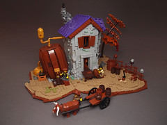 Zhysh's Brewery (Dwalin Forkbeard) Tags: lego moc afol brewery medieval fantasy house barrel steampunk darkages beer ale