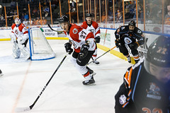 """Kansas City Mavericks vs. Cincinnati Cyclones, February 2, 2018, Silverstein Eye Centers Arena, Independence, Missouri.  Photo: © John Howe / Howe Creative Photography, all rights reserved 2018. • <a style=""""font-size:0.8em;"""" href=""""http://www.flickr.com/photos/134016632@N02/39219887615/"""" target=""""_blank"""">View on Flickr</a>"""