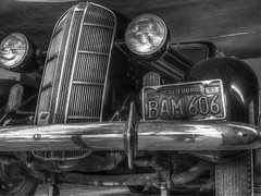 BAM606 HDR B&W (tubblesnap) Tags: lake tahoe nevada california 25th silver wedding anniversary trip holiday vacation celebrations emerald bay hdr tonemapped bam606 classic american car