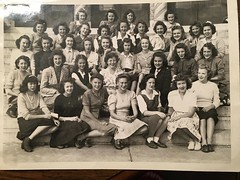 High School girls from Ponca City Oklahoma (Cassi J) Tags: vintage bw schoolgirls 40s group