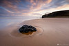 Downhill Dawn. (MNM Photography 2014) Tags: downhillbeach dawn rockpool mussendentemple beach clouds reflections everythingscenery sand sea seascape