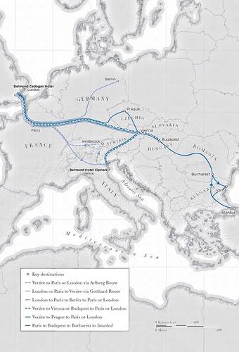 Venice Simplon-Orient-Express 2018 Route map