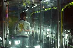 Lonely nights~ (Manto Prestipino) Tags: filmphotography film filmisnotdead onfilm youth boy portrait night nikon lights kodak 35mm analogic analogue analog
