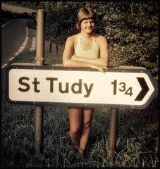 Not far from St. Tudy, Cornwall... 1975. (iEagle2) Tags: sttudy ehefrau england summer seventies 1975 woman wife female femme frau film cornwall