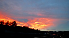 On the road again (2/2) (zwitscherbirdie) Tags: sonneuntergang autobahn sunset highway road
