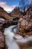 Follow the Flow (Kyoshi Masamune) Tags: glencoe glencoevalley lostvalley uk scotland kyoshimasamune landscape longexposure rivercoe meetingofthe3waters mountain thethreesisters panorama wideangle ultrawideangle argyllbute argyllshire passofglencoe aonachdubh gearraonach water zomeind1000 zomei cokinfilters cokinnd8 tokina1116mmf28 tokinaatxpro1116mmf28dxii
