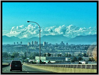 Richmond British Columbia - Canada - The Arthur Laing Bridge - View Vancouver BC