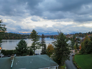 View from the Room at the Mirror Lake Inn in Lake Placid