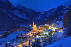 Let It Snow (hapulcu) Tags: österreich winter snow invierno hiver oostenrijk kärnten heiligenblut carinthia autriche austrija austria alps alpi alpes alpen bluehour