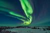 Auroral Curtains in Twilight (Feb 18, 2018) #1 (Amazing Sky Photography) Tags: aurora northernlights churchill northernstudiescentre twilight curtains bluesky trees storm bigdipper manitoba