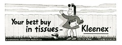 New York Advertisements: (painting in light) Tags: advertisement advert ad sell selling 1951 newyork new york usa us illustration art drawing metropolitan opera house tissues kleenex littlelulu maggie cartoon