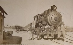 clarkdale depot year unknown (Verde Canyon Railroad) Tags: locomotive steam steamengine historic vintageimages railroad verdevalley arizona clarkdalejerome
