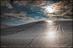 Là-haut sur la colline / Up there on the hill (Jeanluc Verville) Tags: colline hill neige snow