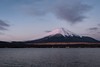 Mt. Fuji in Pale Pink (Yuga Kurita) Tags: fuji fujisan fujiyama mt mount japan landscape nature beauty travel destination tourism yamanashi fujigoko five lakes yamanakako lake yamanaka famous place volcano dawn morning landmark natural
