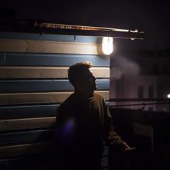 NIGHT (daniilzozulya) Tags: boy night nuit garçon bruxelles brussels brussel canon numérique digital smoke smoking fumer fumée friend ami friends amis chill posé