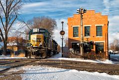 Y102, Tipp City, OH (Wheelnrail) Tags: csx csxt dayton tipp city ohio emd bo cpl signal signals sun snow winter rail railroad train trains toledo subdivision sunny y102 local freight