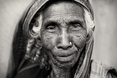 Bangladesh, old lady (Dietmar Temps) Tags: asia bangladesch bangladesh bogra bengali culture ethnic ethnie ethnology face naturallight oldwoman outdoor people portrait southasia tradition traditional 50mm blackandwhite charspeople jamunariver oldlady
