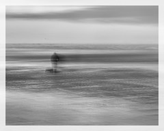 Ghost of the bait digger (AEChown) Tags: ghost seaside baitdigger lowtide ryeharbour man icm beach sea sand ocean water bay