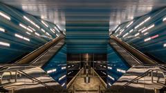 urban design in perfection (ralfkai41) Tags: bahnhof urbandesign city subway mirroring harbourdistrict hamburg architecture überseequartier trainstation spiegelung design architektur möwe hafencity station ubahn